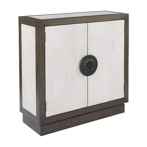 OSP Home Furnishings INSPIRED by Bassett Livorno Transitional Grey Storage Console