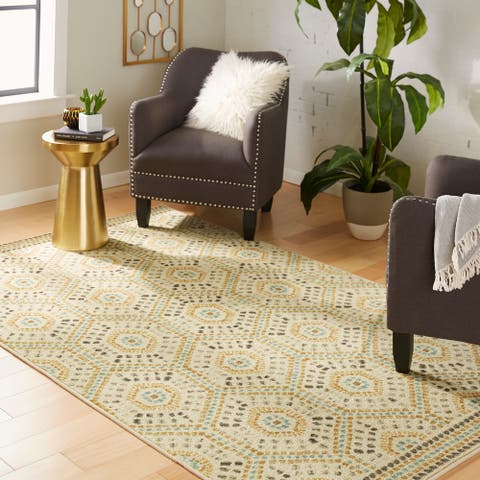Mohawk Prismatic Diamond Field Area Rug