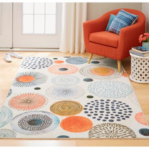 Mohawk Prismatic Textured Circles Area Rug