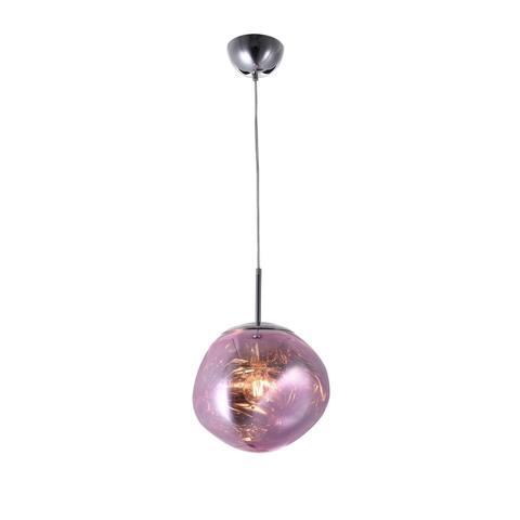Pink Acrylic Shade Single Pendant Lighting