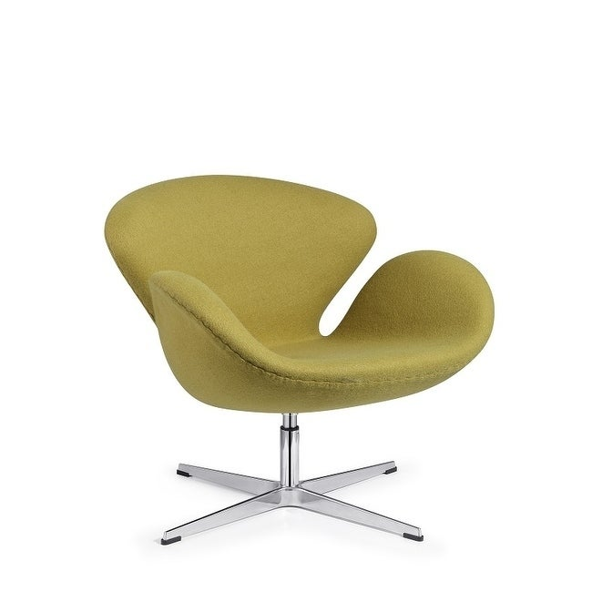 Incredible Modern Swivel Swan Lounge Chair Green Wool Ocoug Best Dining Table And Chair Ideas Images Ocougorg