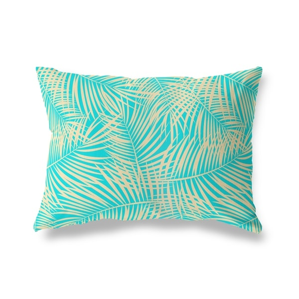 PALM PLAY TEAL Lumbar Pillow By Kavka Designs