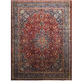 Handmade One-of-a-Kind Mashad Wool Rug (Iran) - 9'6 x 12'7