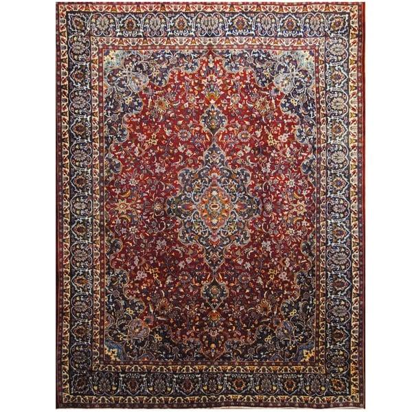 Handmade One-of-a-Kind Mashad Wool Rug (Iran) - 9'6 x 12'7