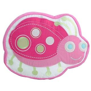 Porch & Den Cami Pink Ladybug Decorative Pillow