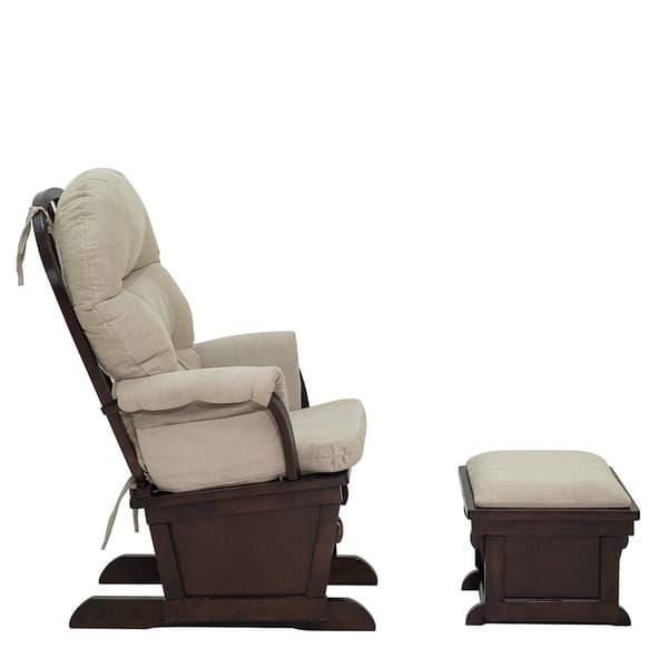 Homcom Nursery Glider Recliner Rocking Chair With