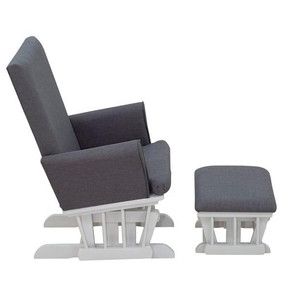 Pleasant Shop Homcom Rubberwood Linen Glider Rocking Chair With Inzonedesignstudio Interior Chair Design Inzonedesignstudiocom