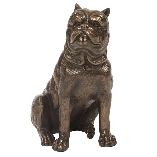 Bronze Sitting Pug Sculpture