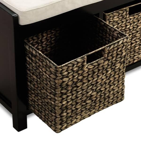 Fine Shop Copper Grove Alpirsbach Black Storage Bench With 3 Frankydiablos Diy Chair Ideas Frankydiabloscom