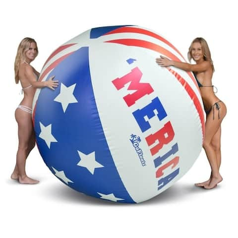 GoFloats 6' Giant 'MERICA Inflatable Beach Ball, Extra Large Jumbo Beach Ball