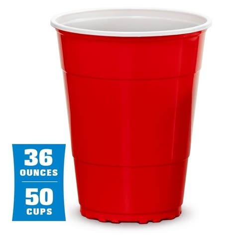 GoBig 36oz Giant Red Party Cups 50 PACK