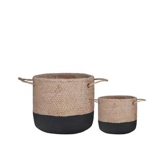 UTC59814: Cement Round Basket Washed Finish Apricot