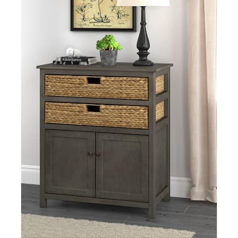 Click Decor Nelson Storage Cabinet, Dark Gray