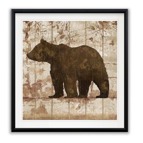 Bear Crossing -Framed Giclee Print