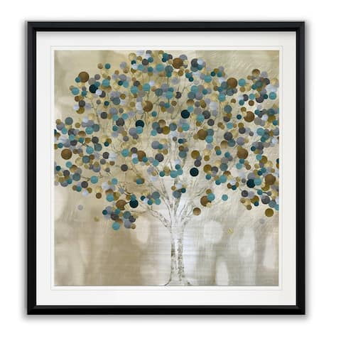 A Teal Tree -Framed Giclee Print