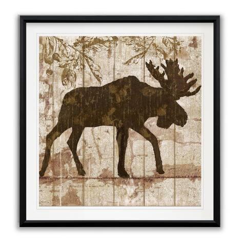 Moose Crossing -Framed Giclee Print