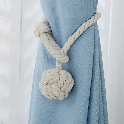 Jonathon Handmade Rural Cotton Rope Curtain Tieback (Set of 2)