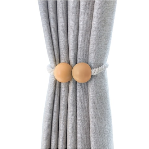 Oberle Magnetic Ball Curtain Tieback (Set of 2)