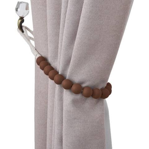 Bad Students Dametta Macaron Wooden Bead Curtain Tieback (Set of 2)