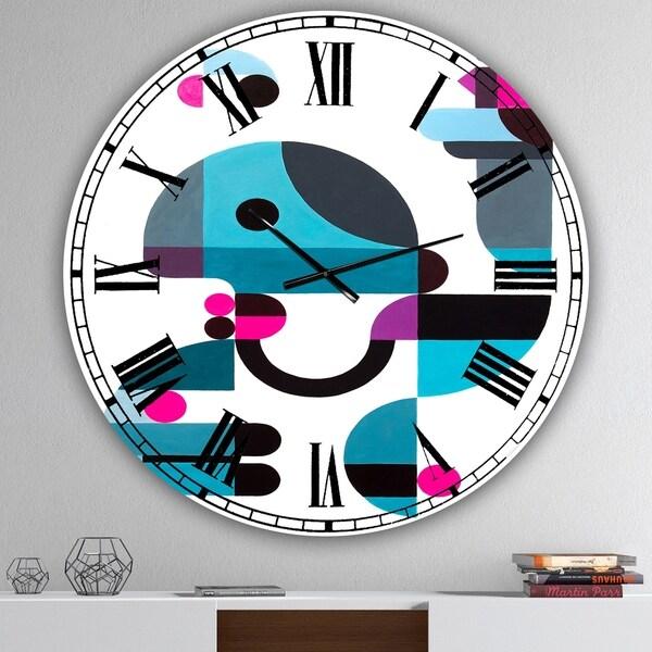 Designart 'Birdkeeper' Oversized Mid-Century Wall Clock
