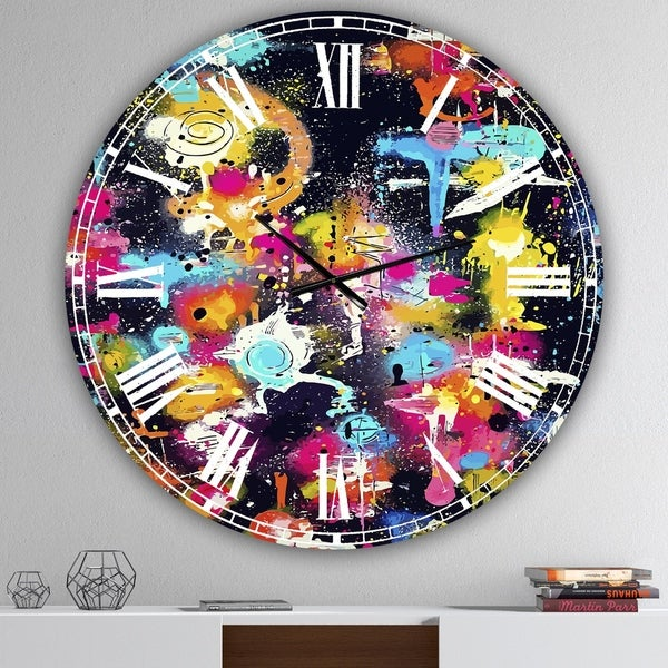 Designart 'The Lovers The Dreamers & Me' Oversized Modern Wall Clock
