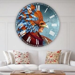 Designart 'Free-Spirited' Oversized Modern Wall Clock