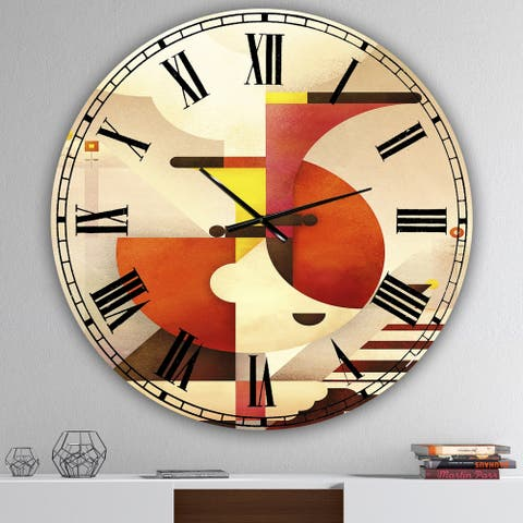 Designart 'All That Jazz' Large Mid-Century Wall Clock