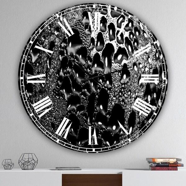 Designart 'Abstract Droplets 15' Oversized Modern Wall Clock