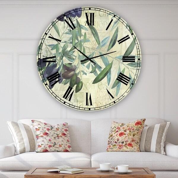 Designart 'Olives de Nyons' Cottage Wall Clock