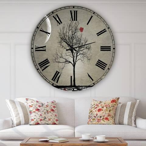 Designart 'Inevitable' Large Cottage Wall Clock