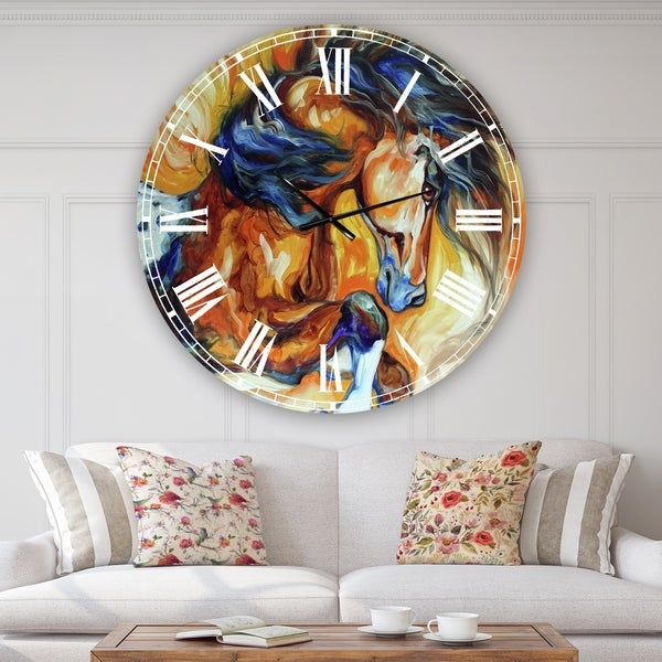Designart 'Dance Of The Wild One' Oversized Cottage Wall Clock