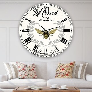 Porch & Den Jordy Honey Bee A' Oversized Cottage Wall Clock