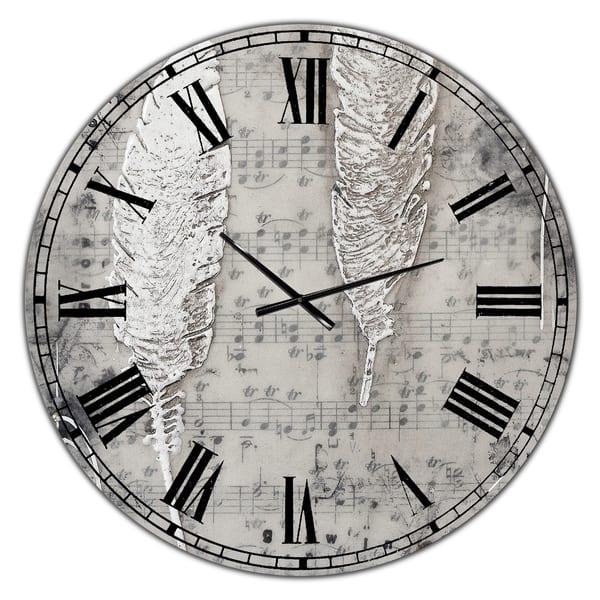 Shop Designart Heaven Sent Oversized Cottage Wall Clock Overstock 28262126