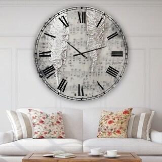 Designart 'Heaven Sent' Aluminum Oversize Cottage Wall Clock