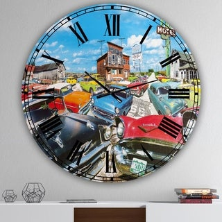 Designart 'The Tri Five' Large Modern Wall Clock