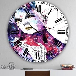 Designart 'The FlowIn Us' Large Modern Wall Clock
