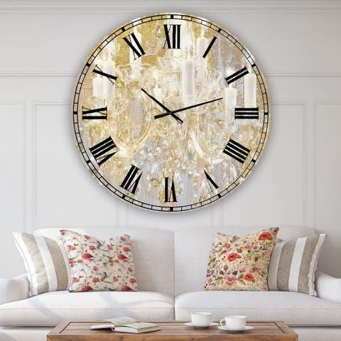 Designart 'Treasured Cottage' Oversized Fashion Wall Clock