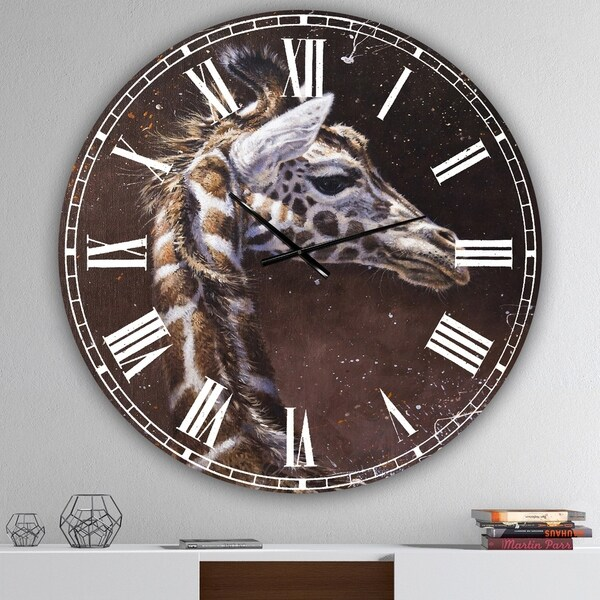 Designart 'Michael Jackson 14' Large Cottage Wall Clock