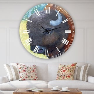 Designart 'All American' Aluminum Large Farmhouse Wall Clock