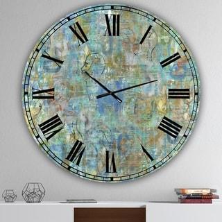 Designart 'Mind Blown' Aluminum Large Modern Wall Clock
