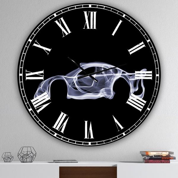 Designart 'Mercedes-Benz CLK GTR' Oversized Modern Wall Clock