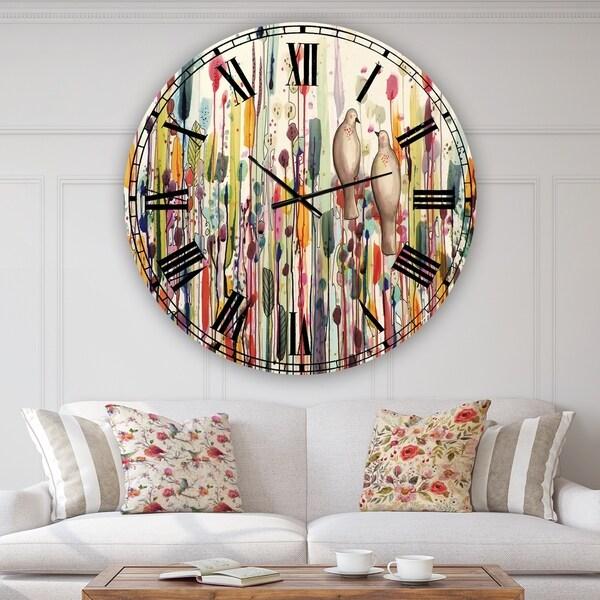 Designart 'L'un Pour L'autre' Oversized Cottage Wall Clock