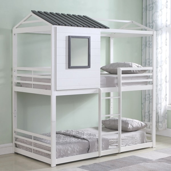 House Themed Versatile Playhouse Twin Size Bunk Bed
