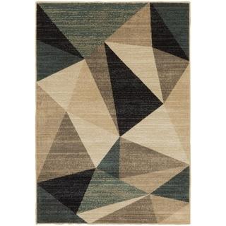 Carson Carrington Drosbacken Geometric Grey/ Blue Area Rug