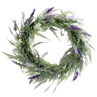 "Artificial 22"" French Lavender Wreath"