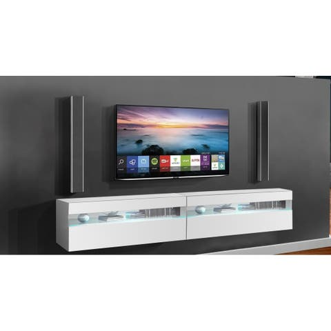 Strick & Bolton Mikli Modern Wall-mounted Floating TV Stand
