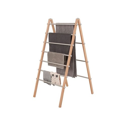 INNOKA Folding Laundry Rack Ladder Clothes Drying Rack - Modern, Lightweight with Strong Aluminum Bars