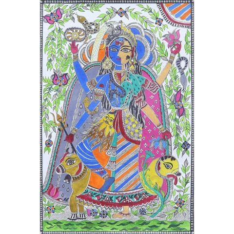 Celestial Union Madhubani painting