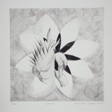 Handmade Black & White ink Paining (Mexico)