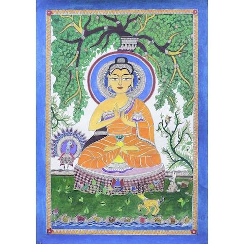 Handmade Enlightened Madhubani Painting (India)